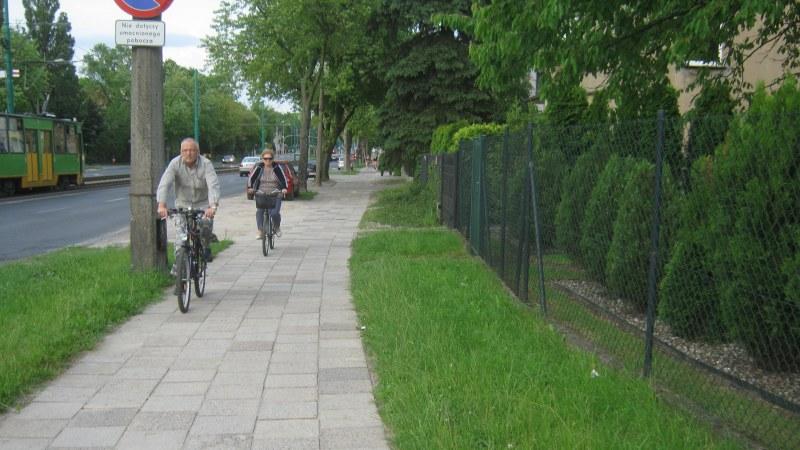 Grunwaldzka rowerzyści