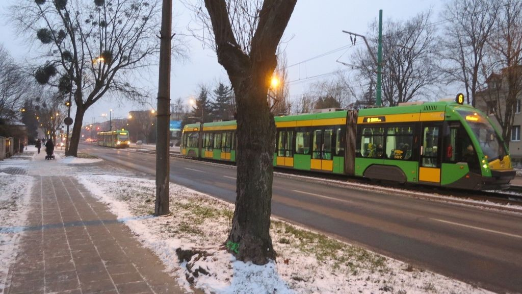 Grunwaldzka tramwaje korek