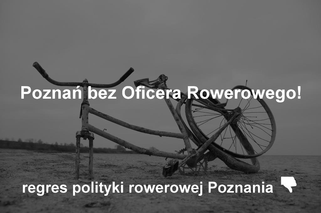 Poznań bez oficera rowerowego