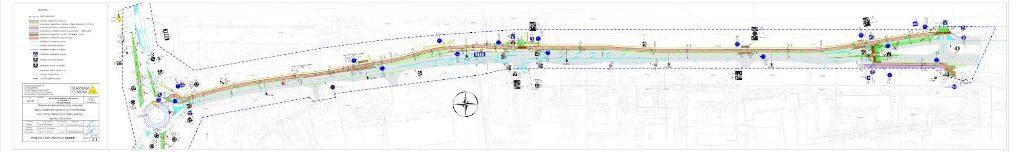 droga dla rowerów Szymanowskiego - projekt