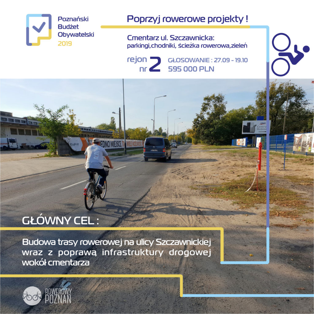 Cmentarz ul. Szczawnicka: parkingi,chodniki,ścieżka rowerowa,zieleń