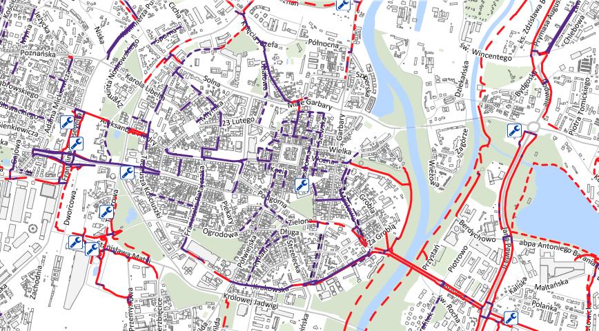 Rowerowa Mapa Poznania - wersja interaktywna