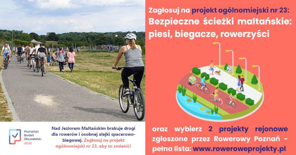 Poznański Budżet Obywatelski - głosuj na projekt Bezpieczne ścieżki maltańskie!