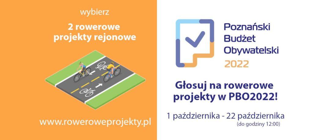 Głosuj rowerowo w Poznańskim Budżecie Obywatelskim 2022!